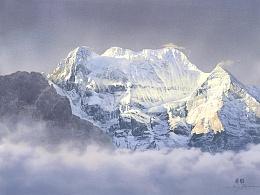 写意人生——这些年画过的水彩雪景