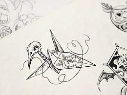 老徐的纹身手稿-黑白