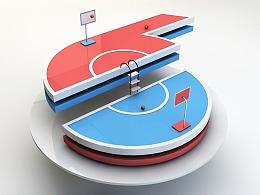 C4D—6号篮球场
