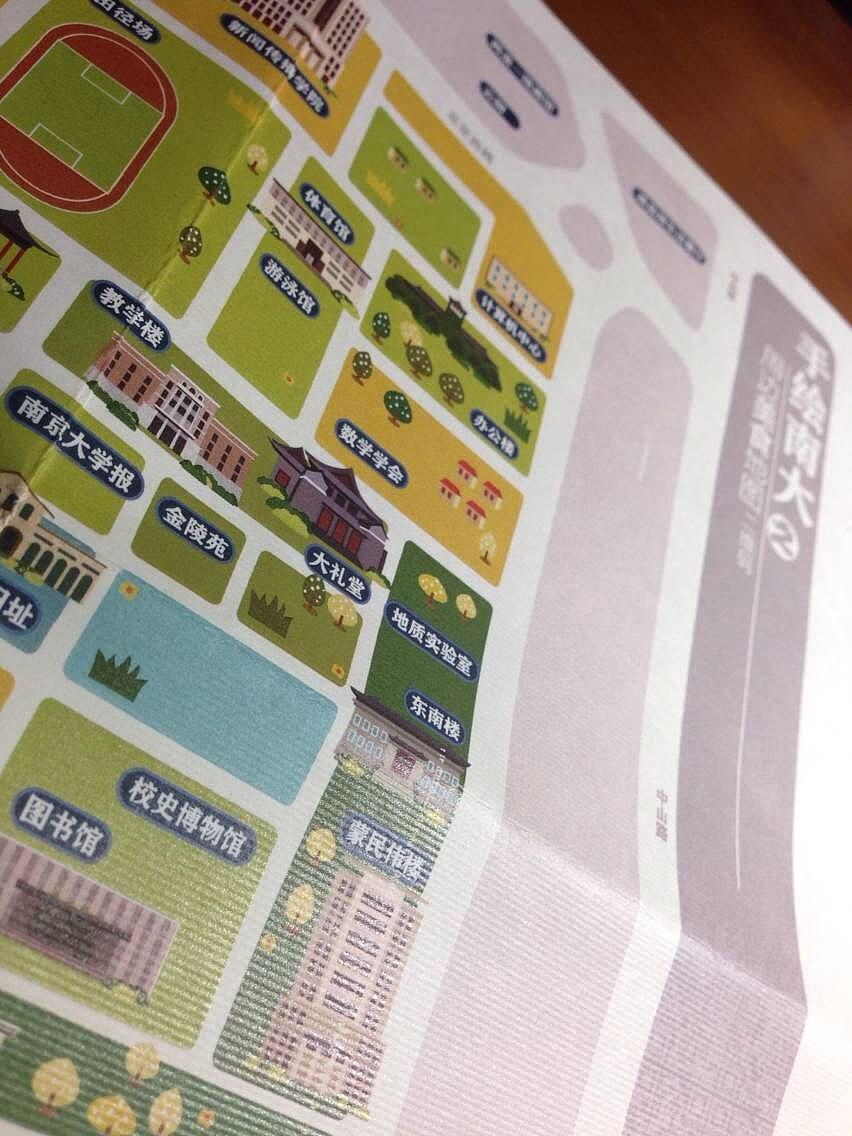 手绘南大-周边美食地图