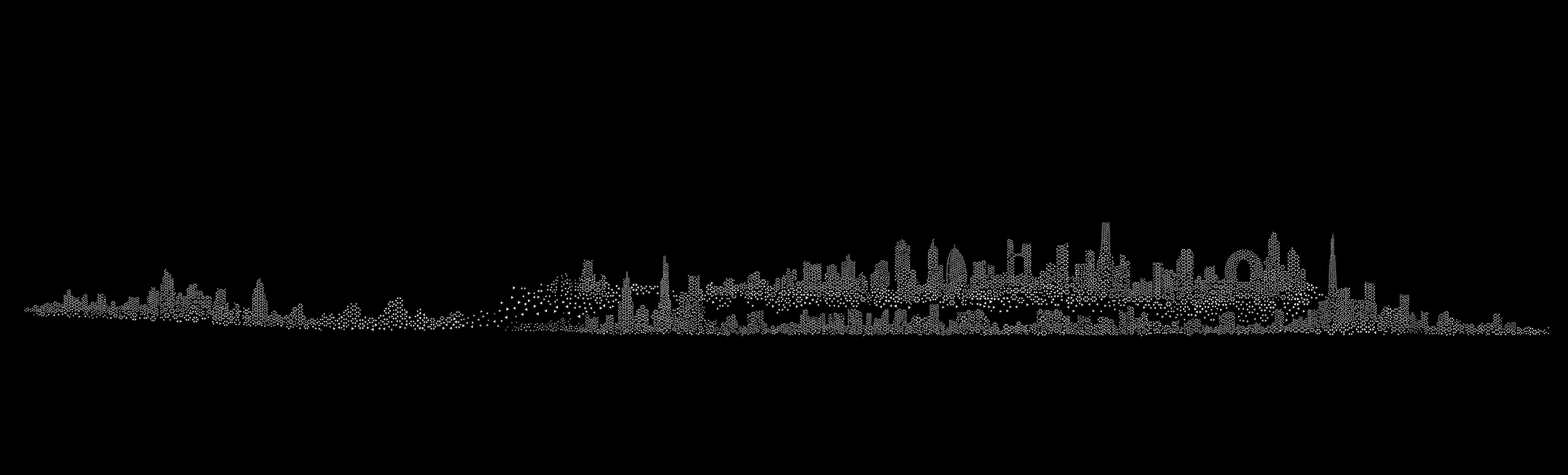 城市铅笔画临摹