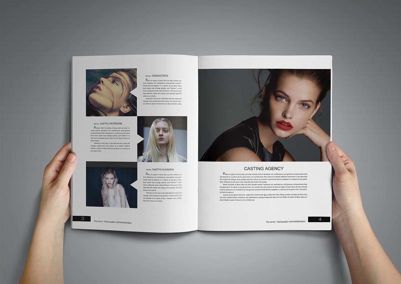 时尚杂志画册排版设计