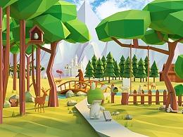 《抚光教程》 No.2 C4D+OC 全景森林