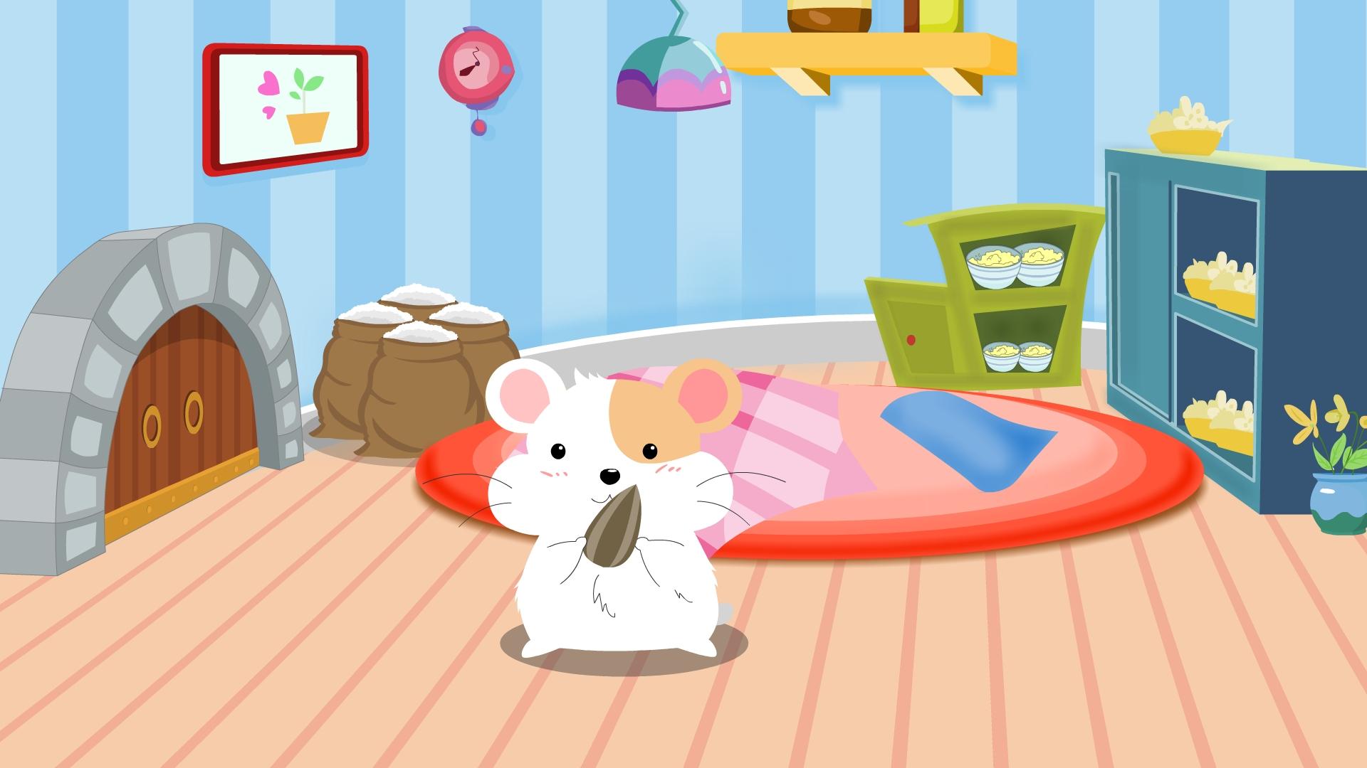 卧室的卡通图片