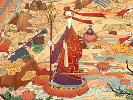《鸭游季》柔骨辣鸭餐饮品牌手绘插画