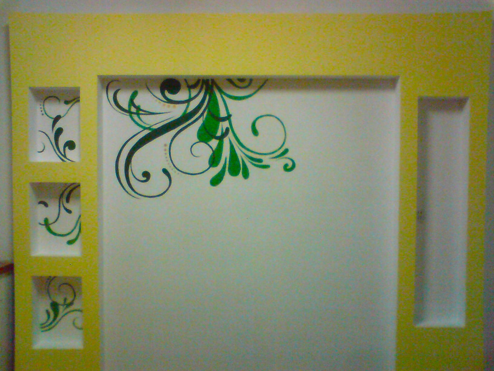 自己做过的手绘墙,晒晒!