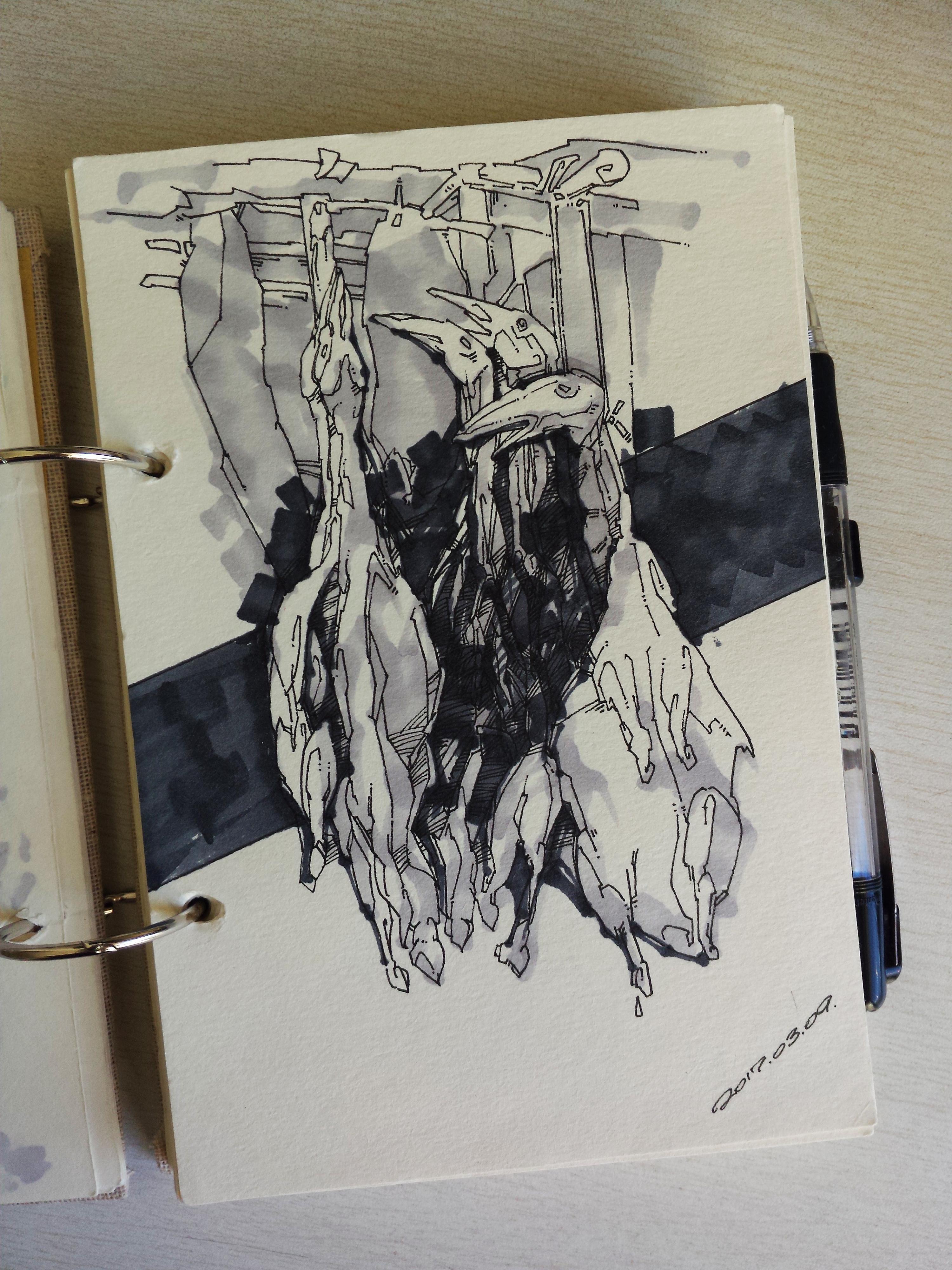 手绘作品|插画|插画习作|火山_1981 - 原创作品