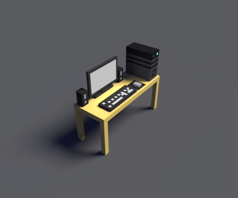 我的电脑桌|三维|场景|火焰奴 - 原创作品 - 站酷
