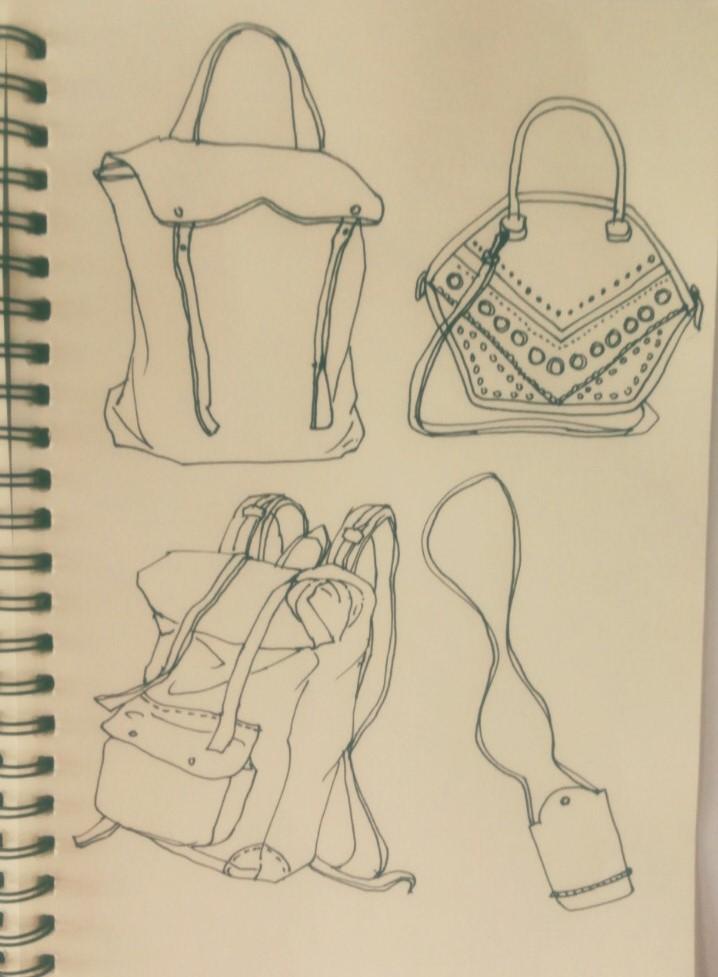 手提包简笔画-每个女孩都是包包控