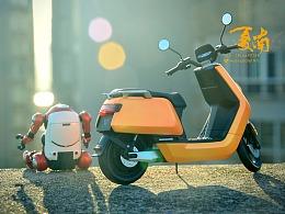 小号手 1:12 小牛N1S电动踏板车模型