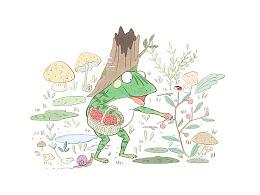摘野果的青蛙