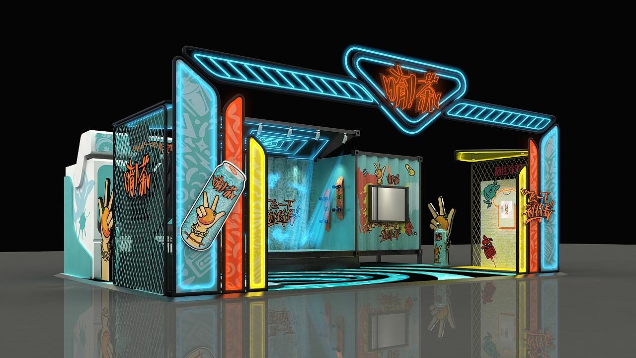 可口可乐公司新品——唷茶展位|空间|展示设计 |cui图片