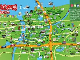 江阴旅游手绘地图