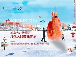 北极甜虾深海虾微观小人