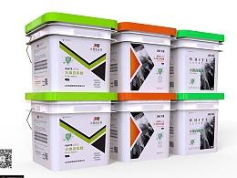 几款白乳胶包装桶设计-悟杰高端视觉设计