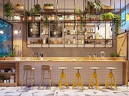 咖啡店设计装修连锁店设计效果图店铺设计装修餐饮店