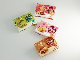 茶食品包装设计系列-巧叶酥-沱茶酥-方块酥-蝴蝶酥
