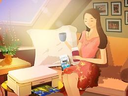 京东(女神价到)手绘海报设计