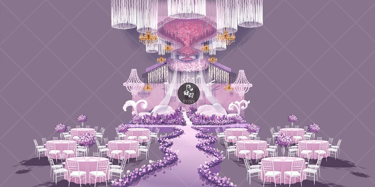 婚礼手绘— 电脑 「恋紫」