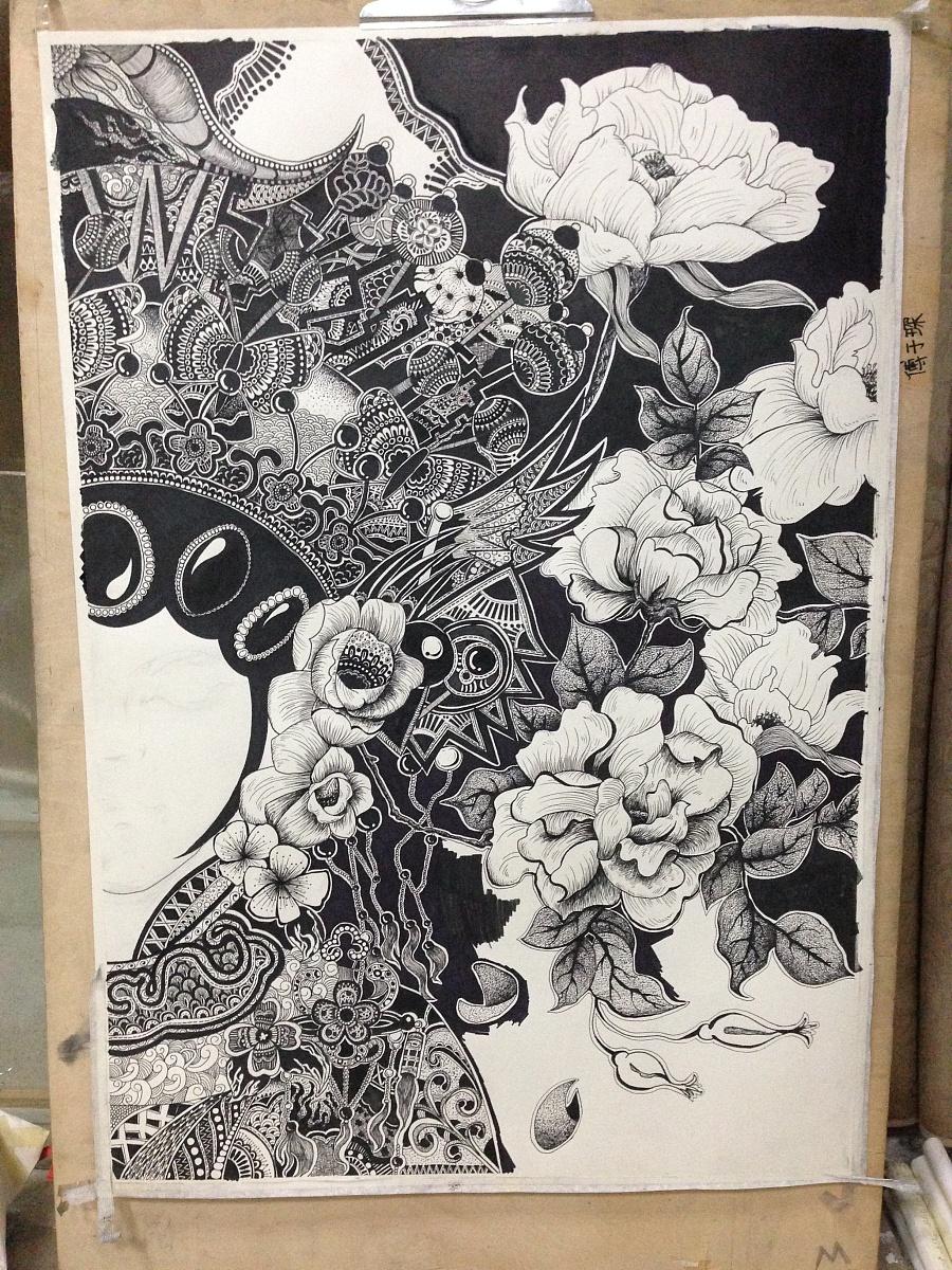 原创作品:黑白手绘1