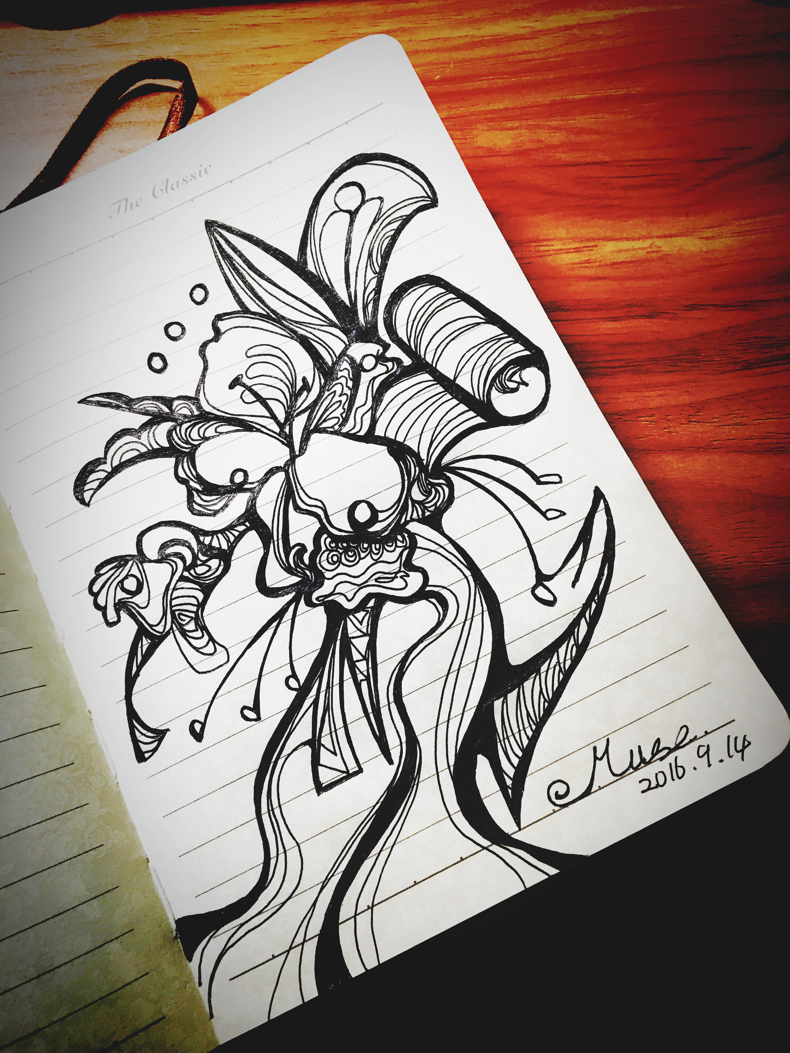 黑白手绘|插画|涂鸦/潮流|u_e_muse - 原创作品