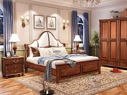 美式家具3D效果图,实木家具3D效果图,淘宝家具3D效果