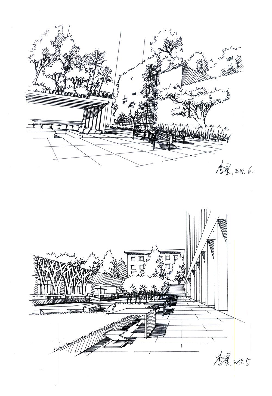 景观手绘|空间|景观设计|zzdy.lx - 原创作品 - 站酷