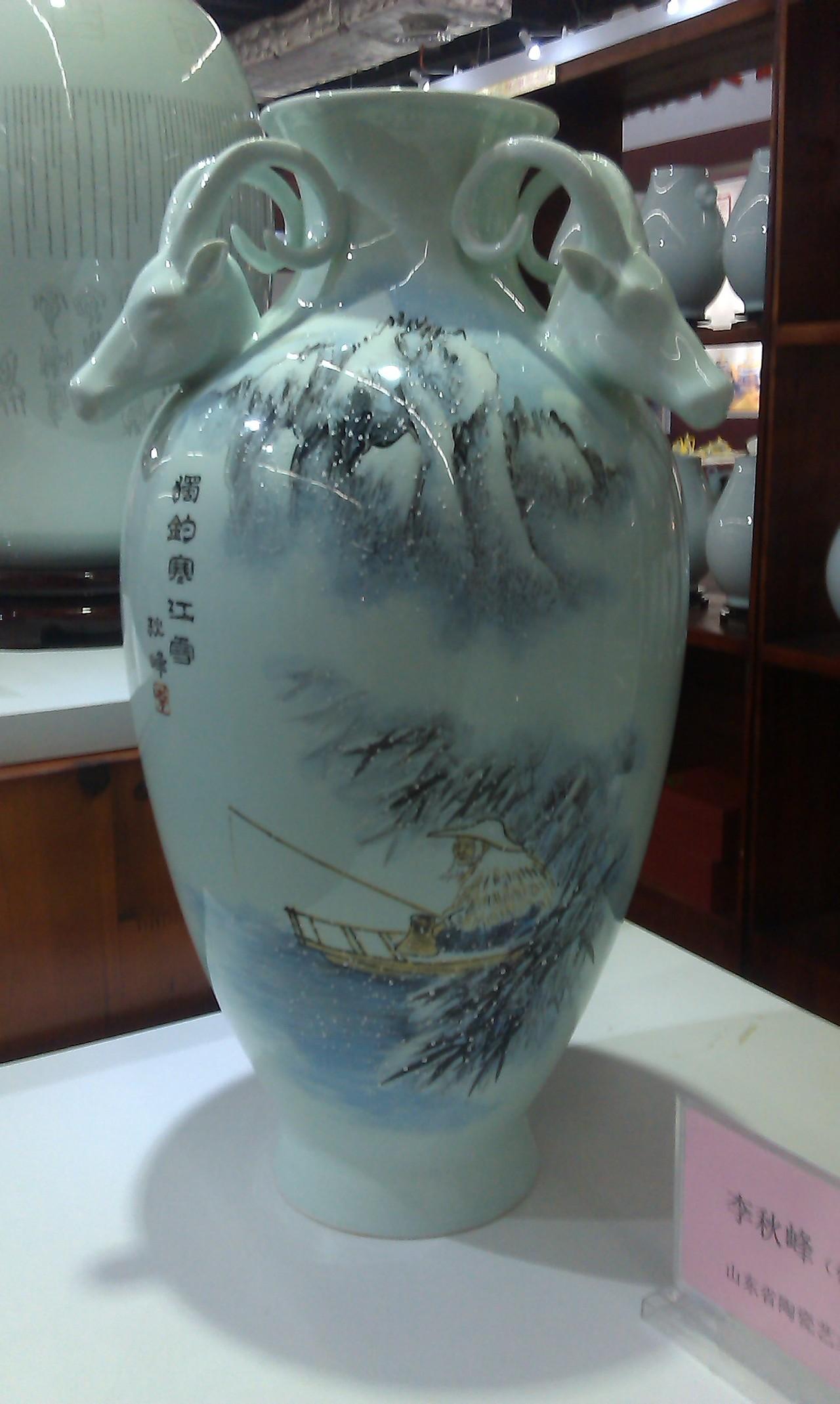 淄博陶瓷展彩绘图片图