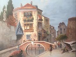 威尼斯建筑油画临摹