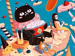 圈圈家族-黑猫咸咸圈 表情包