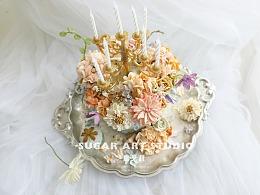 糖艺社韩式裱花作品--烛台