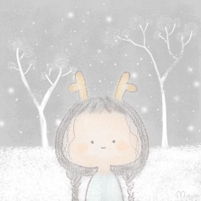 麋鹿小女孩