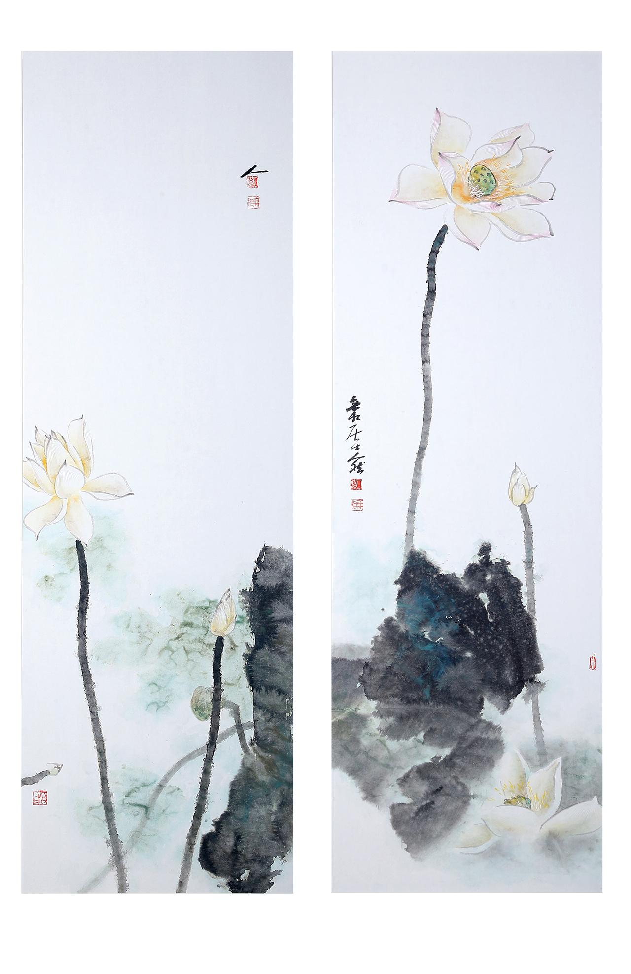 清莲 纯艺术 国画 无相禅艺中心 - 原创作品 - 站酷图片