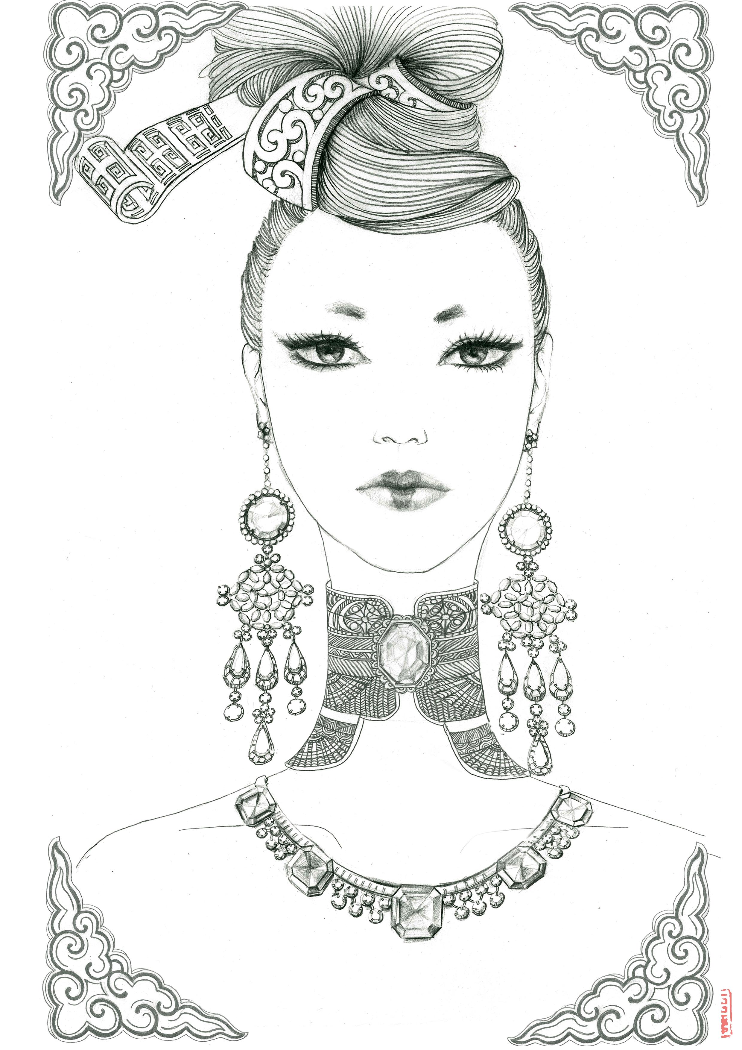 毕业设计-《再现大唐》铅笔手绘|插画|商业插画|龙璐