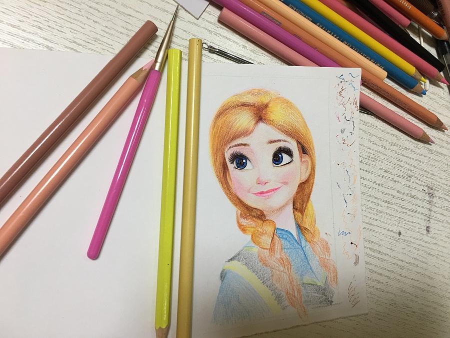 冰雪奇缘练笔……|彩铅|纯艺术|万红叶