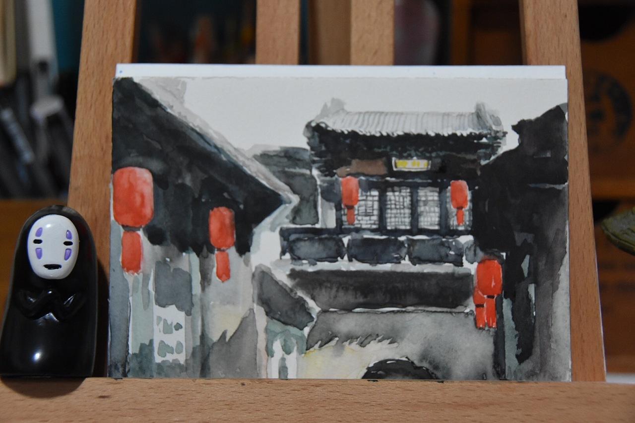 乔家大院-手绘明信片(无脸男入境~)