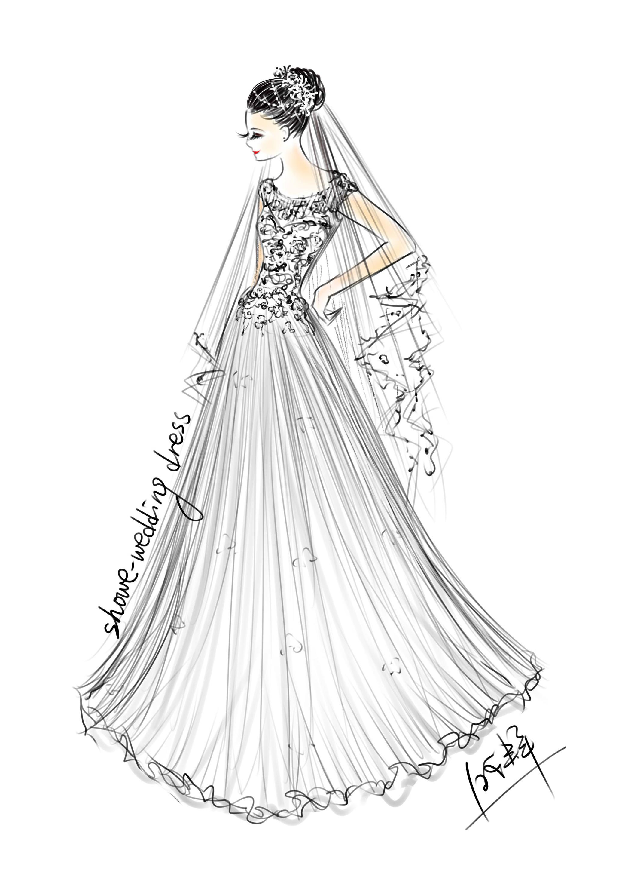 婚纱设计手稿|服装|正装/礼服