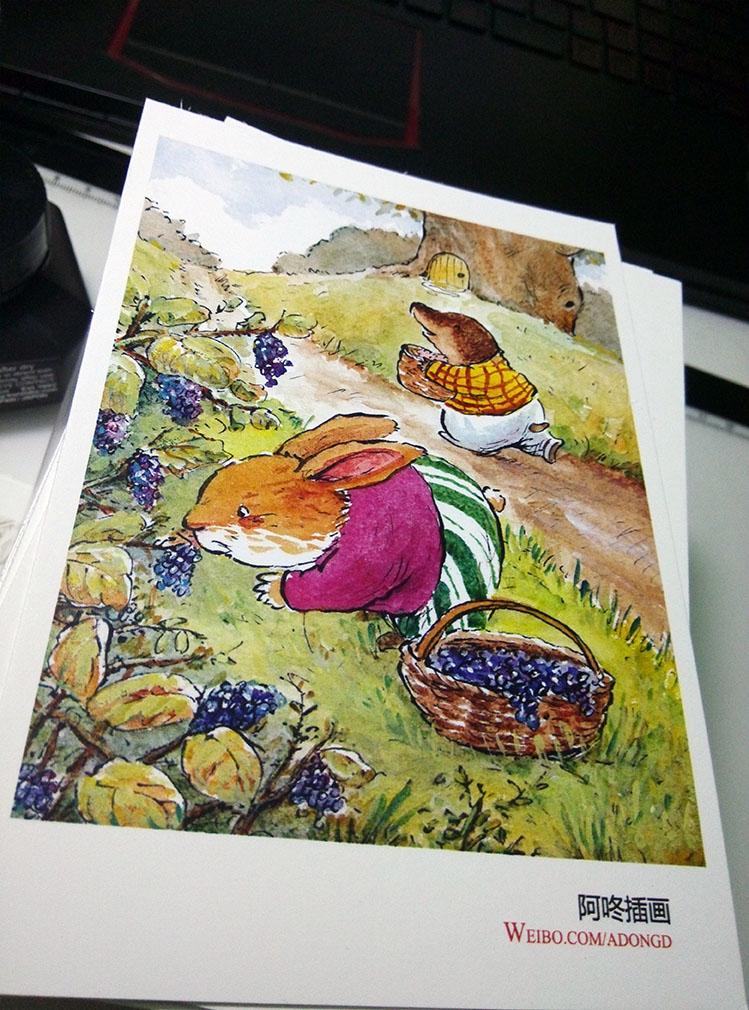 阿咚原创手绘明信片|儿童插画|插画|阿咚