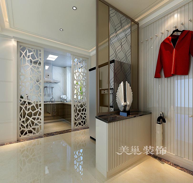 维也纳森林89平两室两厅现代简约风格装修效果图——玄关鞋柜