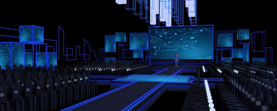 舞台设计《主题科技首都》舞美设计盛典一|舞说明设计设计方案图片