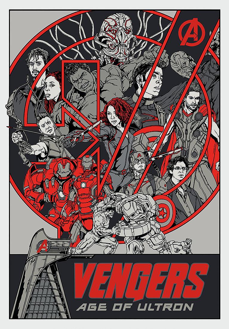 复仇者联盟2概念手绘海报