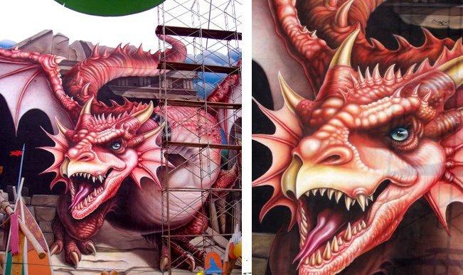 3d墙壁手绘