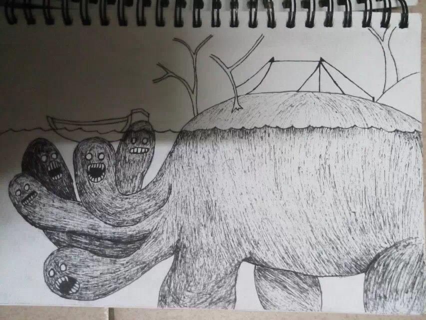 水底怪物(临摹)