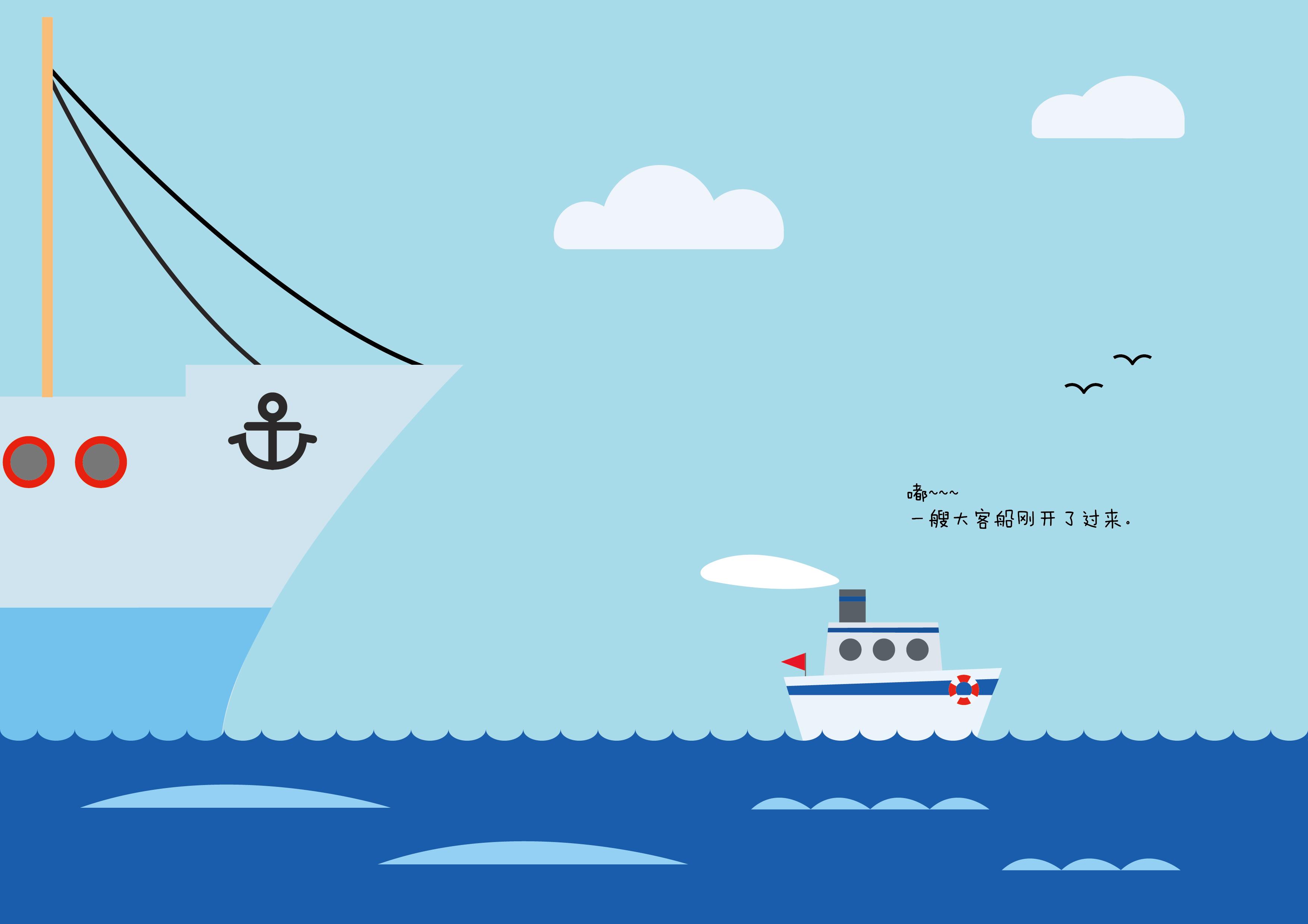 小船手绘三视图