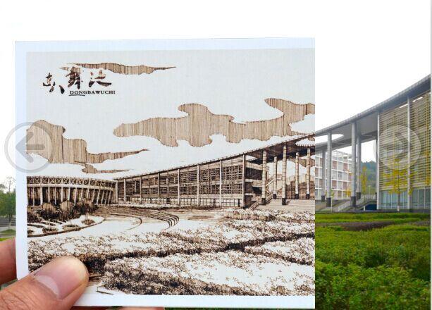 上战手绘 西南科技大学明信片作品|建筑设计|空间