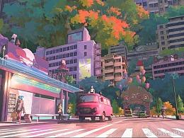 齐猪作品 - #电影罗小黑战记# 风息公园