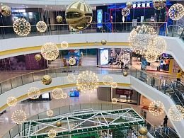 商场中庭吊饰 专业厂家 铭星定制 购物中心 中厅吊饰厂