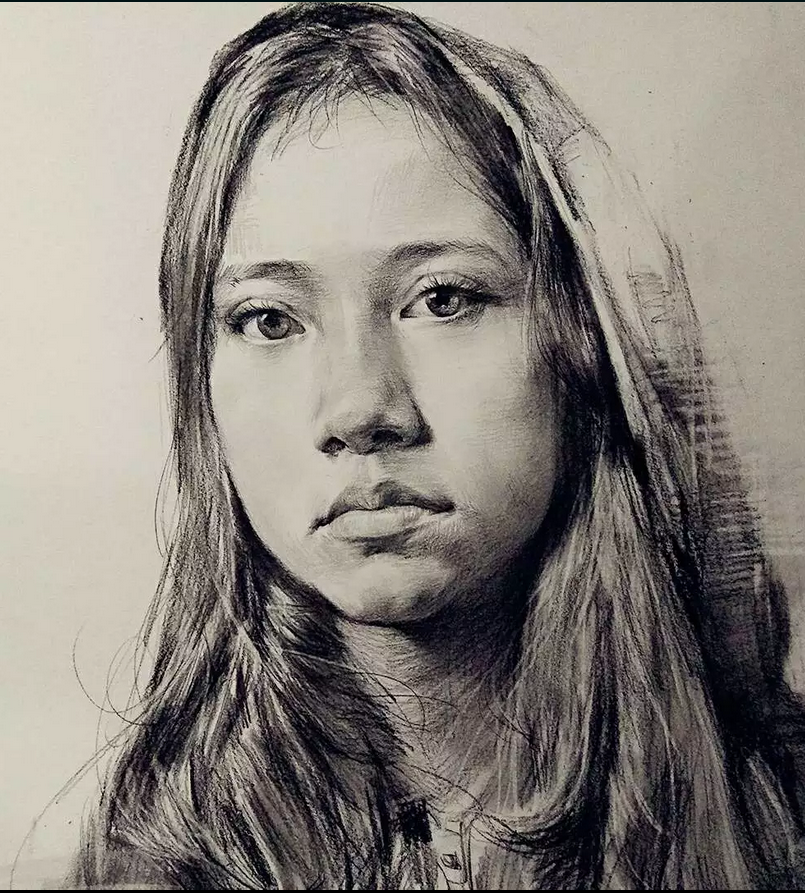 素描 人物肖像女孩图片