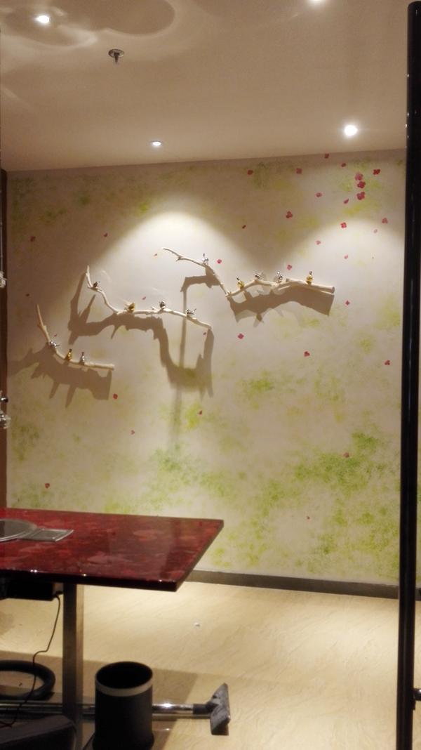 国料理墙体彩绘|室内设计