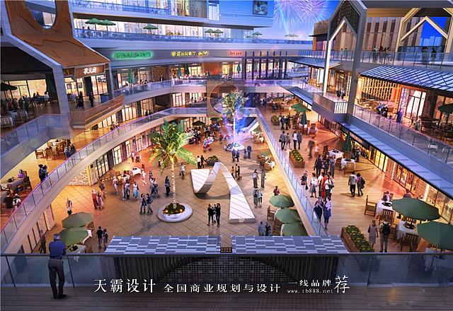 """三,""""双首层"""",环形立体连廊设计,使大商业与步行街紧密结合图片"""